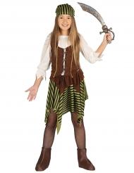 Disfarce miss pirata as riscas menina