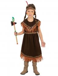 Disfarce índia de cor castanha menina