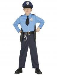 Disfarce polícia musculoso menino