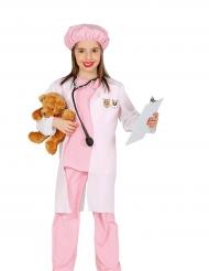 Disfarce veterinária cor-de-rosa menina