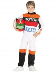 Disfarce piloto de corrida criança