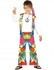 Disfarce hippie com flores criança