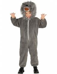 Disfarce lobo cinzento criança