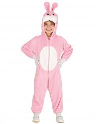 Disfarce coelho cor-de-rosa criança