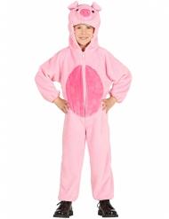 Disfarce porco cor-de-rosa criança