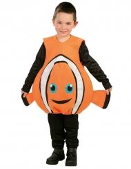 Disfarce peixe cor de laranja engraçado criança