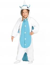 Macacão branco e azul criança