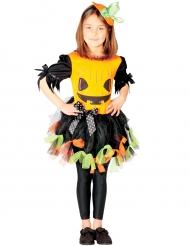 Disfarce abóbora de tule colorido menina Halloween
