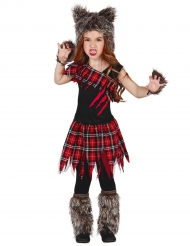 Disfarce lobisomem do campus menina Halloween