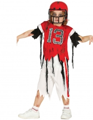 Disfarce jogador de futebol americano zombie rapaz Halloween