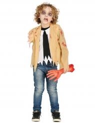 Disfarce zombie sem braço criança