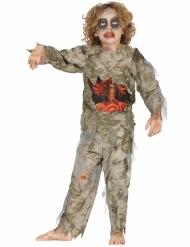 Disfarce de zombie mumificado menino Halloween
