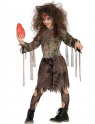 Disfarce zombie mumificado menina Halloween