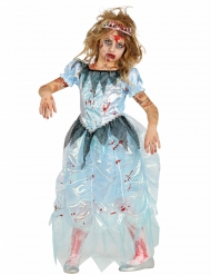 Disfarce zombie princesa azul menina Halloween