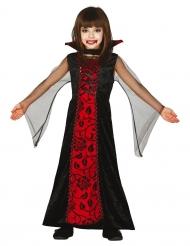 Disfarce condessa das trevas menina Halloween