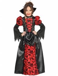 Disfarce nobre contessa vampira menina Halloween