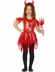 Disfarce diabinha menina para Halloween