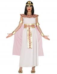 Disfarce egípcia cor-de-rosa e dourada mulher