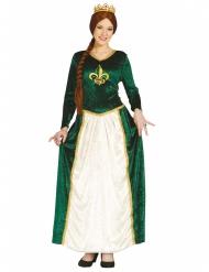 Disfarce princesa medieval verde mulher