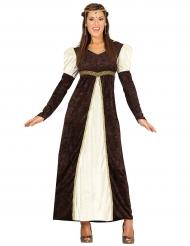 Disfarce princesa medieval marron - mulher