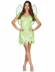 Disfarce fada verde brilhante mulher