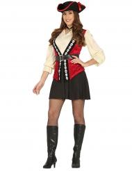 Disfarce capitão pirata caveira mulher
