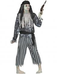 Disfarce pirata fantasma halloween - homem