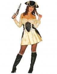 Disfarce pirata dourado sexy - mulher