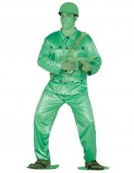 Disfarce pequeno soldado verde adulto
