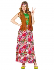 Disfarce happy hippie mulher