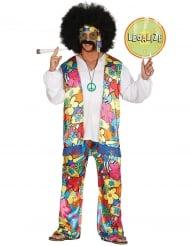 Disfarce hippie às flores homem