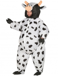 Disfarce vaca insuflável adulto