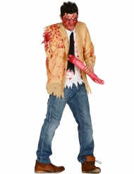 Disfarce zombie amputado homem Halloween