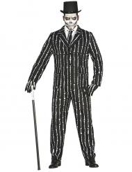 Fato Mr. Ossos skeleton homem