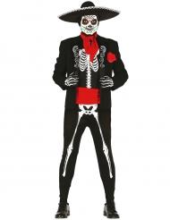Disfarce esqueleto mexicano homem Dia dos Mortos