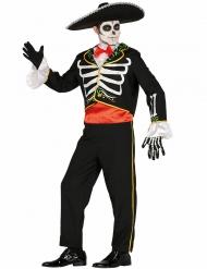 Disfarce mariachi esqueleto homem Dia de los muertos