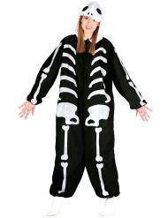 Disfarce macacão esqueleto adulto Halloween