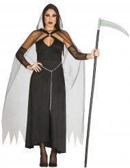 Disfarce senhora da morte preta sexy mulher Halloween