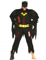 Disfarce de zombie super-herói da noite adulto Halloween