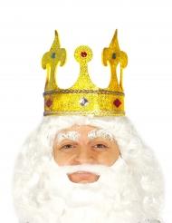 Coroa rei brilhante com pedras falsas adulto