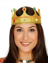 Coroa rainha brilhante com pedras falsas adulto