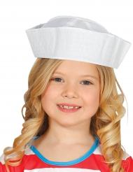 Chapéu branco marinheiro criança