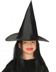 Chapéu bruna com cabelo preto criança