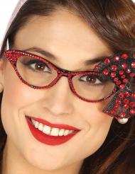 Óculosanos 50 com laço vermelho mulher