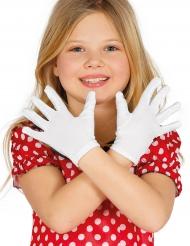 Luvas curtas brancas criança