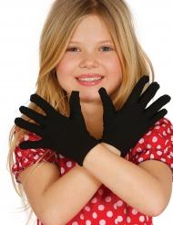 Luvas curtas pretas criança