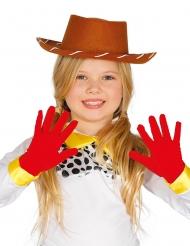 Luvas vermelhas curtas criança
