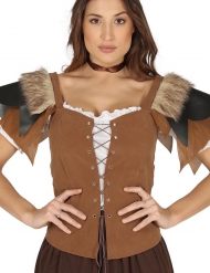 Corpete medieval marron - mulher