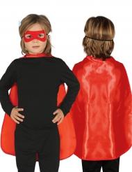 Capa super-herói vermelha criança