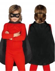 Capa super-herói preta criança